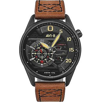 AVI-8 - Wristwatch - Men - Hawker Harrier II AV-4070 - AV-4070-04 - Marron