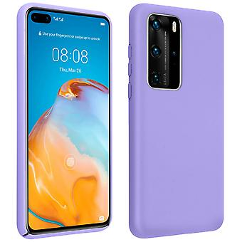 Huawei P40 Pro Semi-Rigid Back cover Soft-Touch finish Compatible Qi Violet