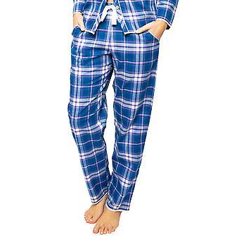 Cyberjammies Eliza 4545 Dames's Blue Mix Check Pyjama Pant