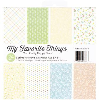 My Favorite Things Spring Whimsy 6x6 Inch Paper Pad