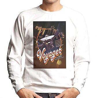 Sweatshirt la NASA Voyager voyage interplanétaire Disco affiche masculine
