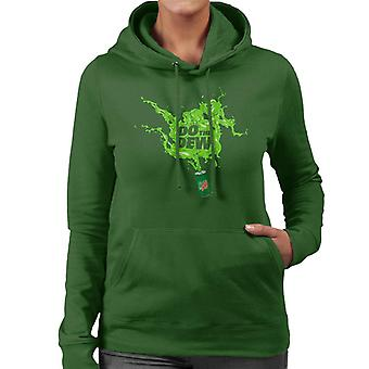 Mountain Dew Do The Dew Spilt Everywhere Women's Hooded Sweatshirt