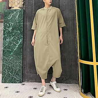Men Jumpsuit Streetwear Half Sleeve