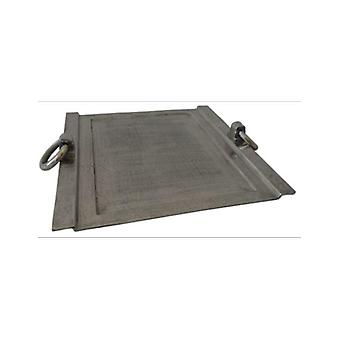Deco4yourhome Tray Square Old Metal