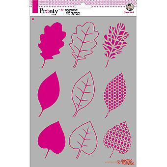 Pronty Käsityöt Lehdet A4 Stensiili