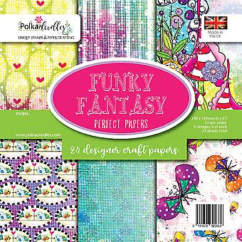 Polkadoodles Funky Fantasy 6x6 Inch Paper Pack