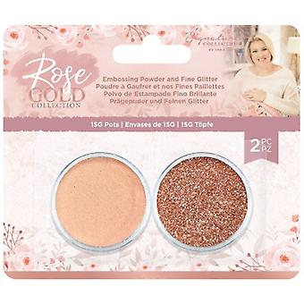 Crafter's Companion Rose Gold Embossing Powder and Fine Glitter