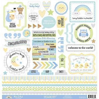 Doodlebug Design Specjalna dostawa To & Że naklejki