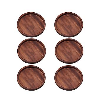 YANGFAN Black Walnut Drink Coasters Natural Placemat Insulation Pads