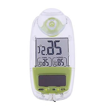 Solar LCD Display Thermometer TS-809W Grün weiß