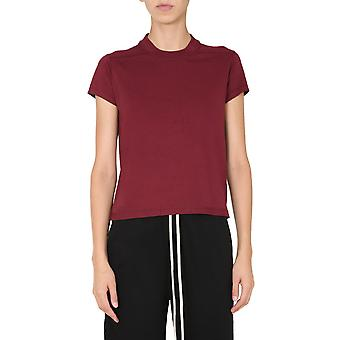 Rick Owens Drkshdw Ds20f1208rn93 Women's Burgundy Cotton T-shirt