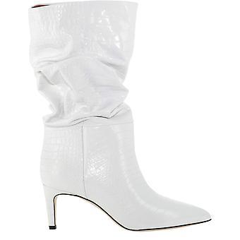 Paris Texas Px511xcabsbianco Women's White Leather Enkellaarsjes