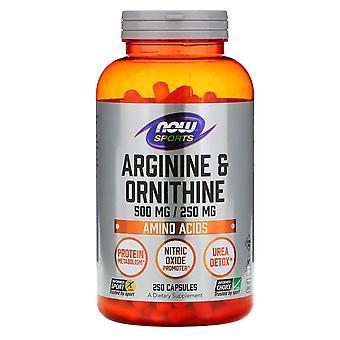 Now Foods, Sports, Arginine & Ornithine, 500 mg /250 mg, 250 Capsules
