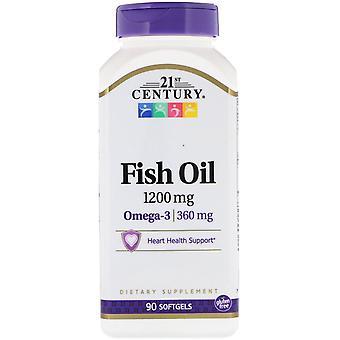 21ème siècle, Huile de poisson, 1200 mg, 90 Softgels