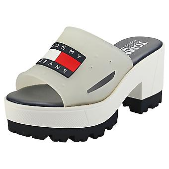 Tommy Jeans Heritage Freedom Heeled Womens Platform Sandals in White