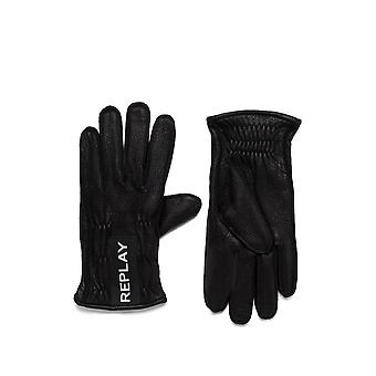 Replay Men's Leather Gloves