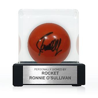 Ronnie O'Sullivan Signed Red Snooker Ball. In Display Case
