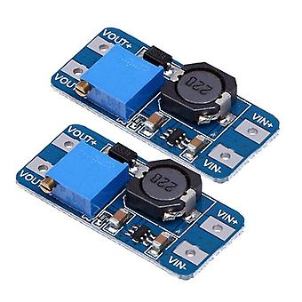 Hot-2pcs Mt3608 Dc-dc Adjustable Step-up Power Converter Module For Arduino & More (blue)