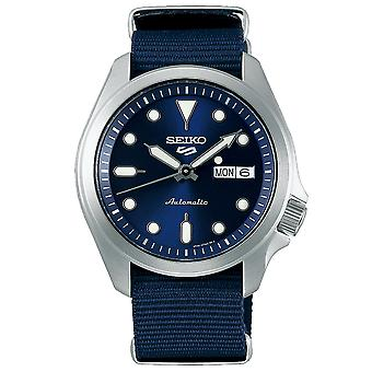 Seiko 5 Sports Automatic Blue Dial Nylon Strap Mens Watch SRPE63K1