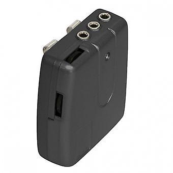 headset intercom motorhelm 63 mm zwart