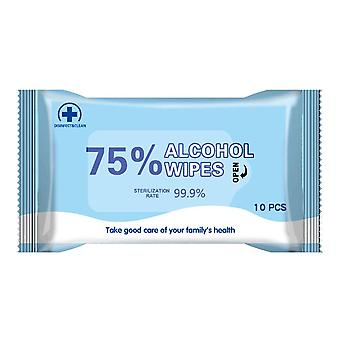 10pcs/pack Disinfection Alcohol Wet Wipes