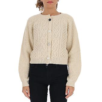 Semi-couture Y0we12a410 Women's White Wool Cardigan