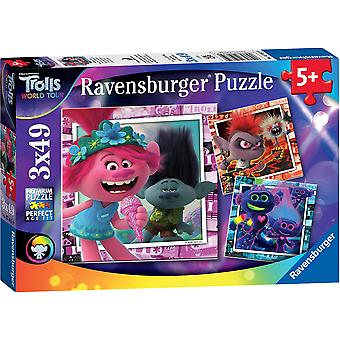 Ravensburger Trolls 2 World Tour 3 x 49pc Jigsaw Puzzles