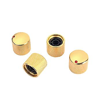 4PCS Gold Red Dot Metal Guitar Dome Knoppen voor gitaaronderdelen