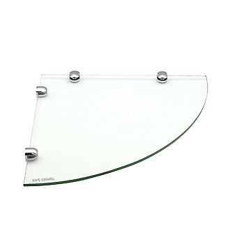 Glass Corner Bathroom / Bedroom Shelf - 300x300mm - Pack of 6