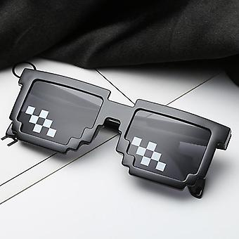 Funny Tricks Glasses 8 Bit Pixel Deal With It Mosaic Unisex Sunglasses Toy For Children Adults Funny Toys