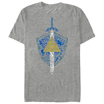 Nintendo Zelda Link's Shield and Sword Symbol T-paita