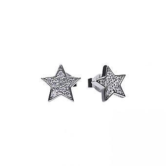 Diamonfire Silver White Zirconia Star Earrings E5613