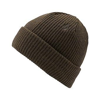 Volcom Sweep Lined Beanie in Black Military
