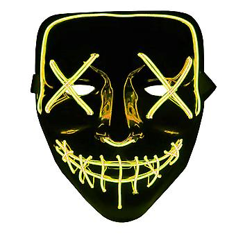 The Purge LED Neon Mask, Halloween - Yellow