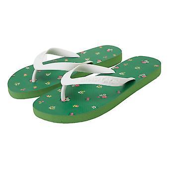 Slydes Cath Kidston Reed Flip Flops - Garden Green