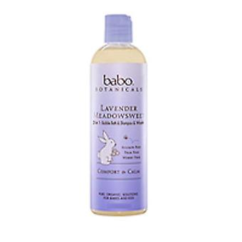 Babo Botanicals Bubble Bath Shampoo and Wash Lavender Meadowsweet, 15 oz