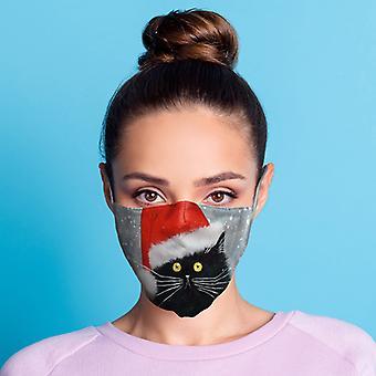 كيم Haskins عيد الميلاد القط الأسود الوجه القابل لإعادة الاستخدام تغطي - كبيرة