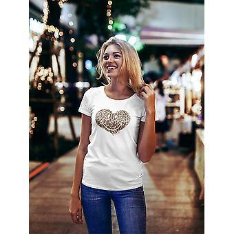 SmileyWorld Animal Print Leopard Happy Heart Women's T-shirt