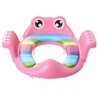 Baby Cartoon Toilet-seat Anti-slip Adjustable Auxiliary Cushion Potty-ring