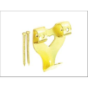 Securit Double Picture Hook Brass Banhado No.3 x 2 S6202