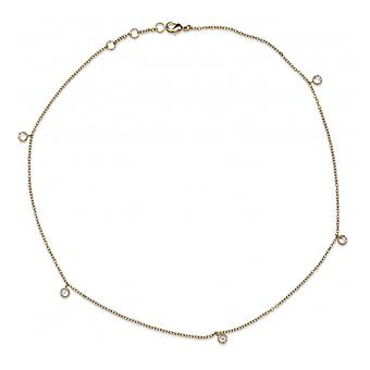 Gold-plated necklace With Cubic Zirconia 45cm