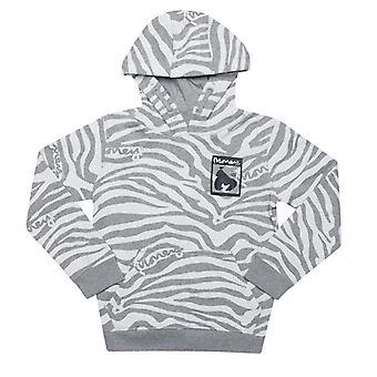 Boy's Money Junior Zebra Print Hoody in Grey