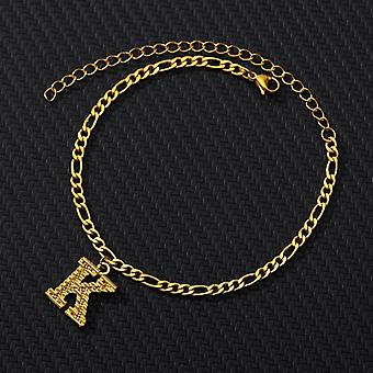 A-z Lettre initiale Anklet-femmes Acier inoxydable, Bracelet Alphabet Anklets,