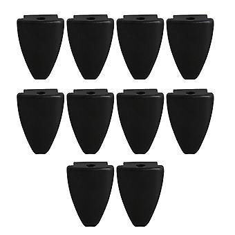 10pcs 4.3x2.5cm Black Drum Claw Hook zonder Tension Rods Drum Parts
