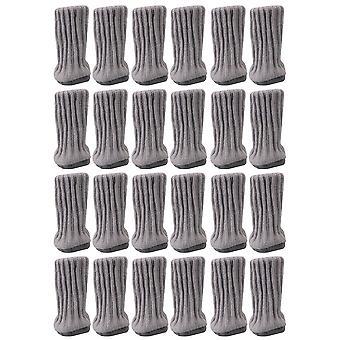 24 Stück Stuhl Bein Socken High Elastic Floor Caps hellgrau