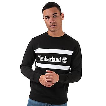 Mannen's Timberland Cut & Sew Crew Sweat in Black