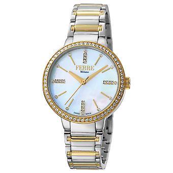 Ferre Milano FM1L084M0101 Women's Champagne Dial Stainle Steel Watch