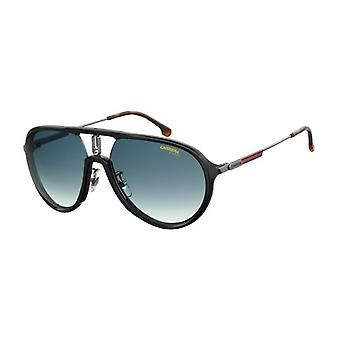 Carrera 1026/S 284/08 Rutênio Preto/Óculos escuros de gradiente azul escuro