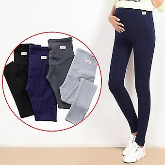 Summer Belly Skinny Maternity Legging In Elastic Cotton, Adjustable Waist