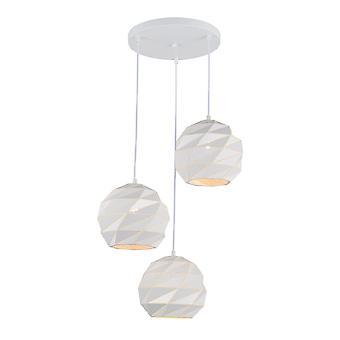 Italux Palermo - Colgante moderno colgante blanco 3 luz , E27